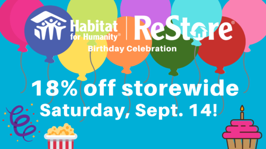 18% off storewide with ballons