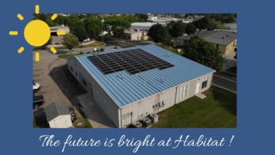 Habitat's rooftop with solar panels
